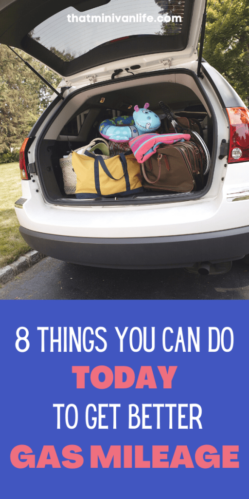 Minivan with open trunk and luggage