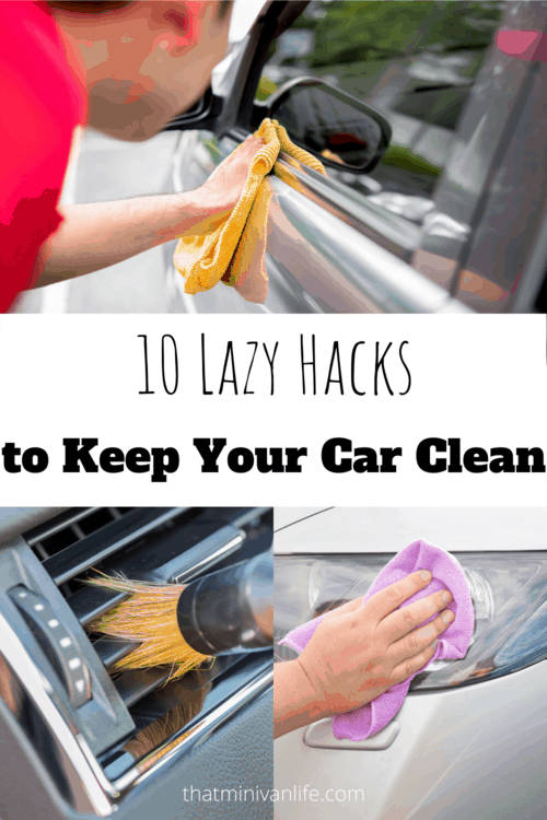 Cleaning Car with rag