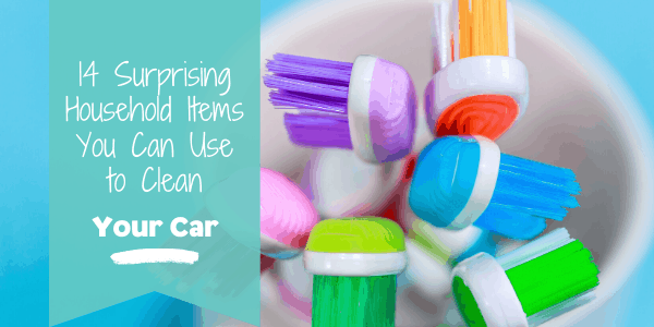 Household Items You can use to clean your car