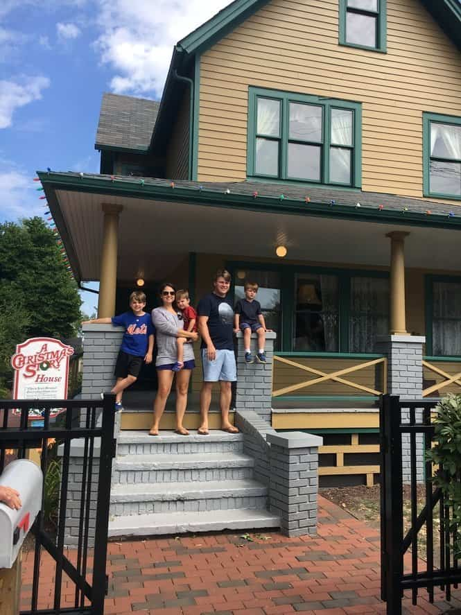 Family visiting the house from A Christmas Story movie in Cleveland