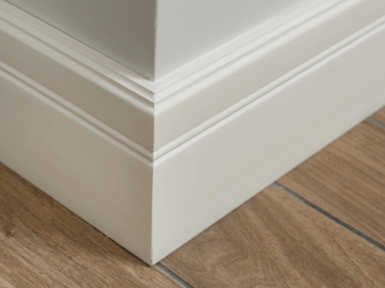 Floor molding, a commonly missed place when cleaning