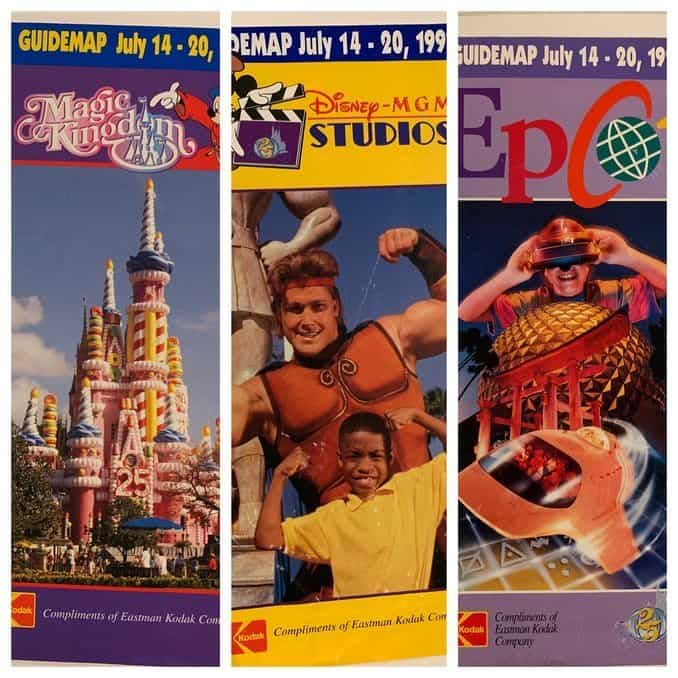 Disney World theme park maps from 1997