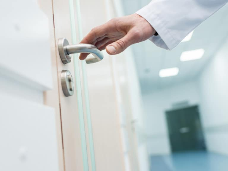 Door handle, a commonly missed place when cleaning