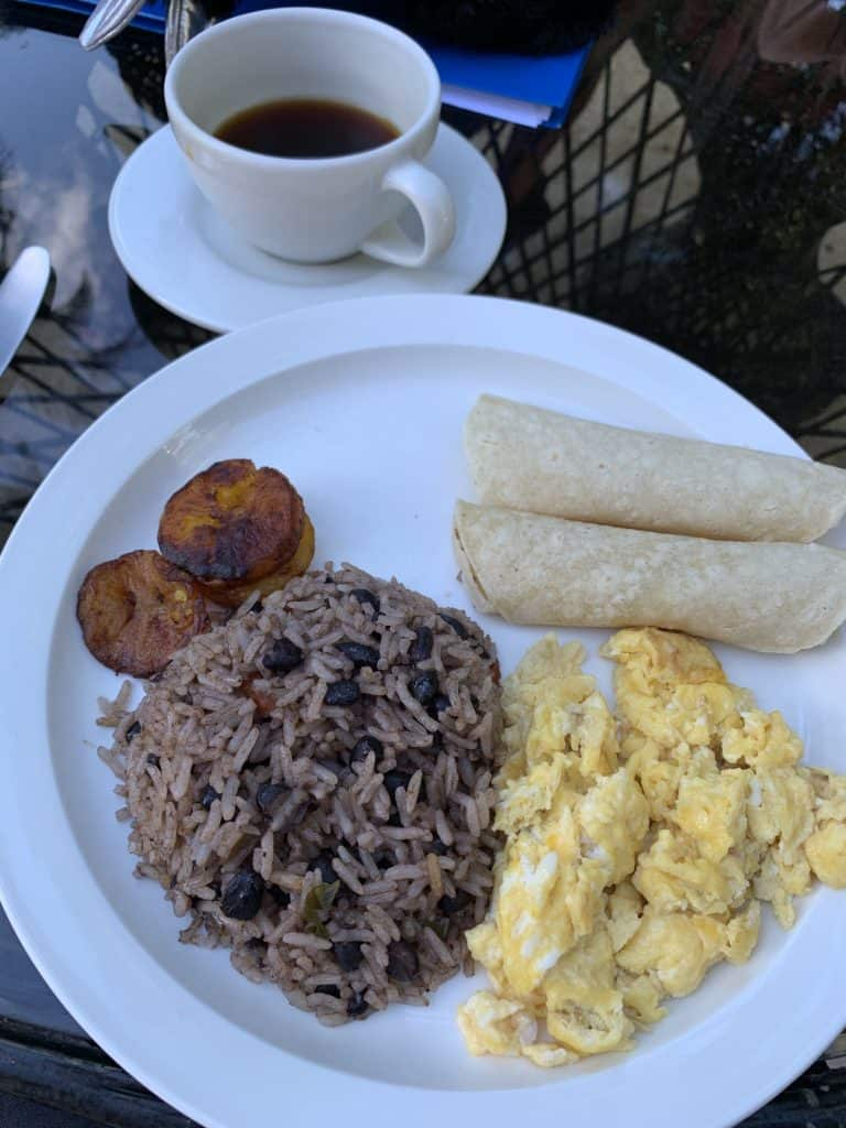 Typical breakfast of Costa Rica
