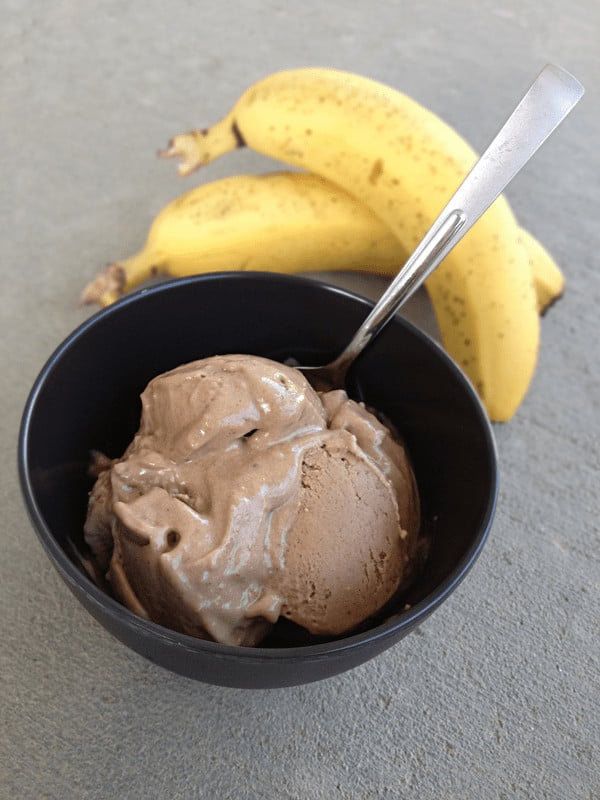 Whole30 chocolate banana ice cream