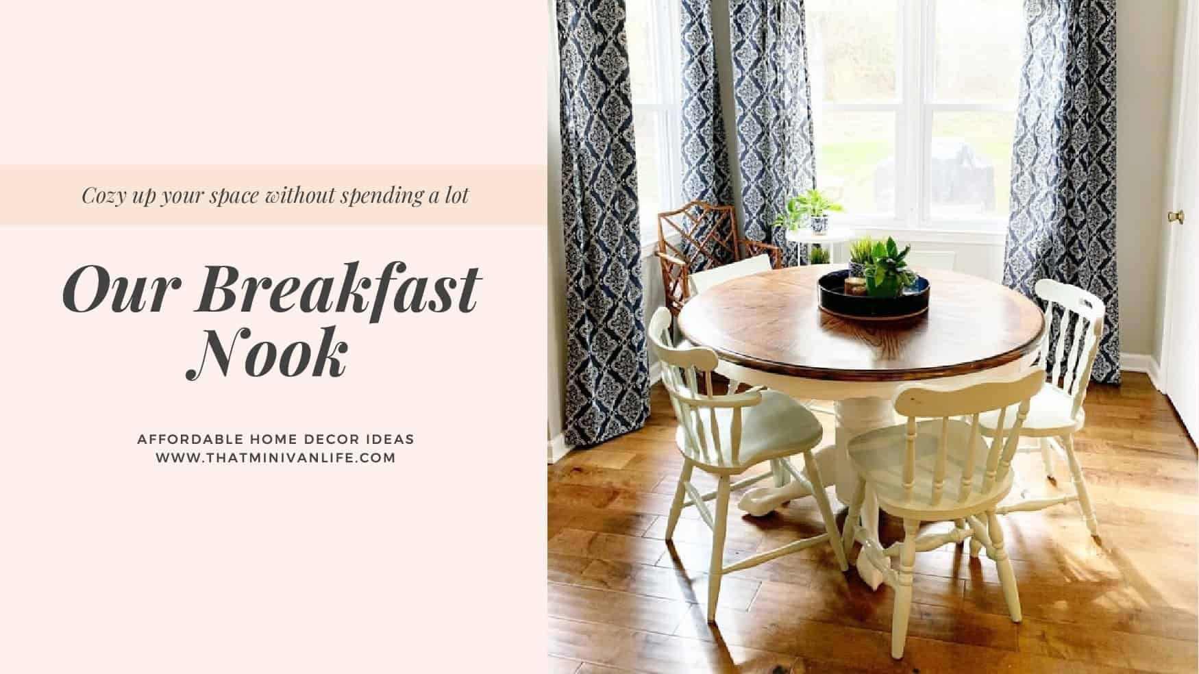 Decorate your breakfast nook on a Budget
