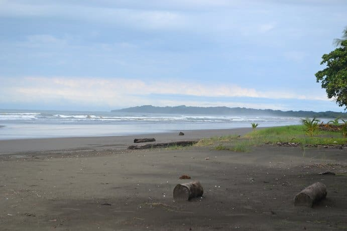 Ocean and beach in Esterillos Este, Costa Rica