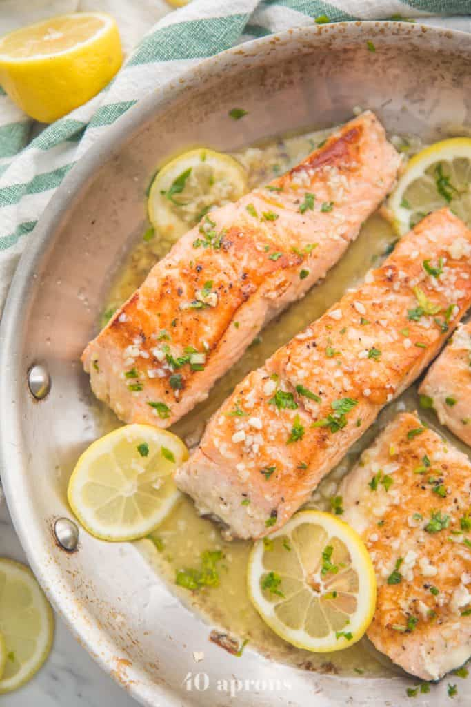 Whole30 Lemon Garlic salmon