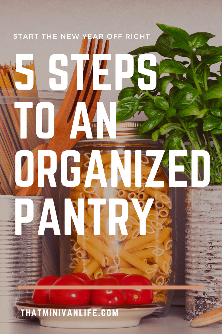 organized pantry items