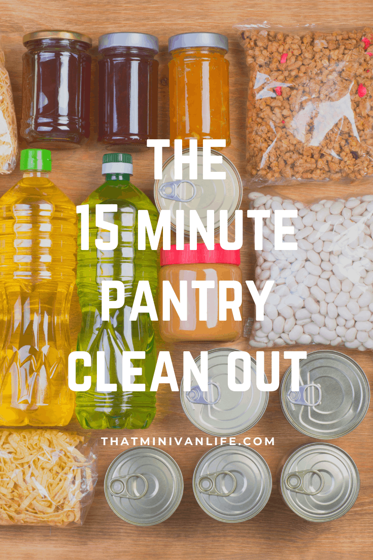 Organized pantry ingredients