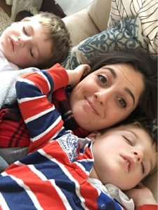 Little Boys asleep with mom
