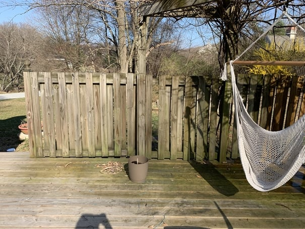 Fencing before pressure washing