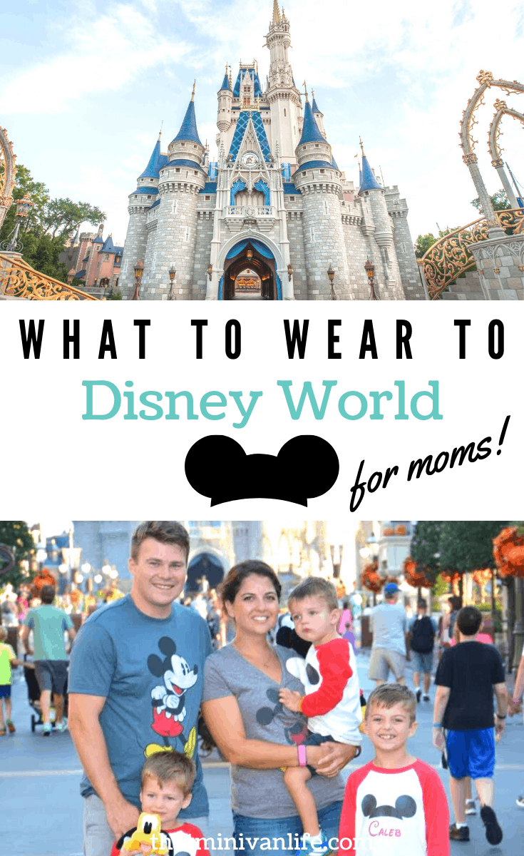 Cinderella Castle and Family in Mickey shirts at Magic Kingdom