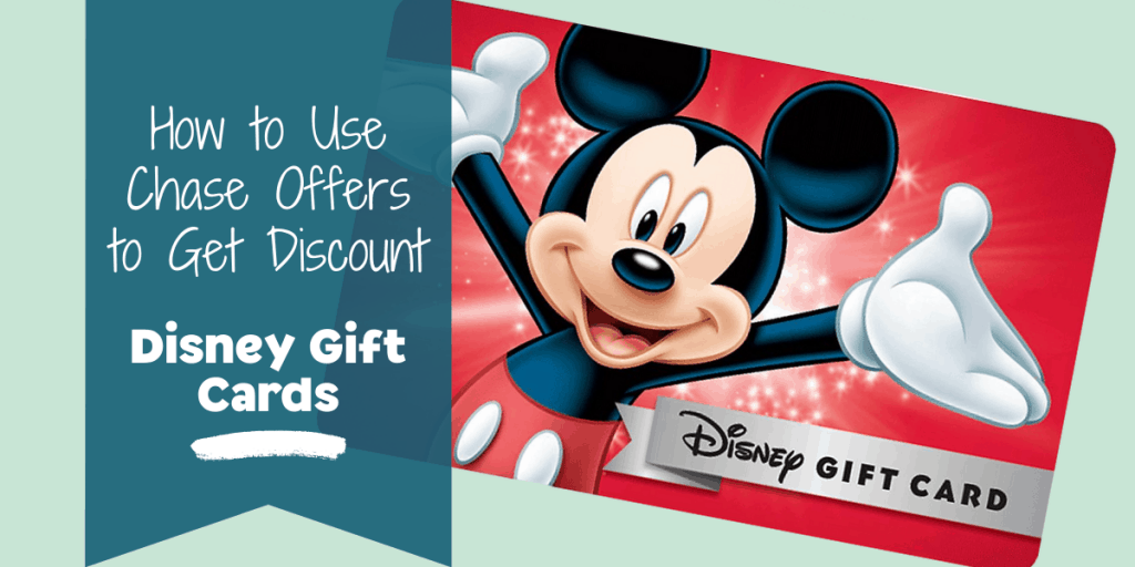Disney Gift Card with Mickey on it