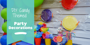 Candy themed party decorations