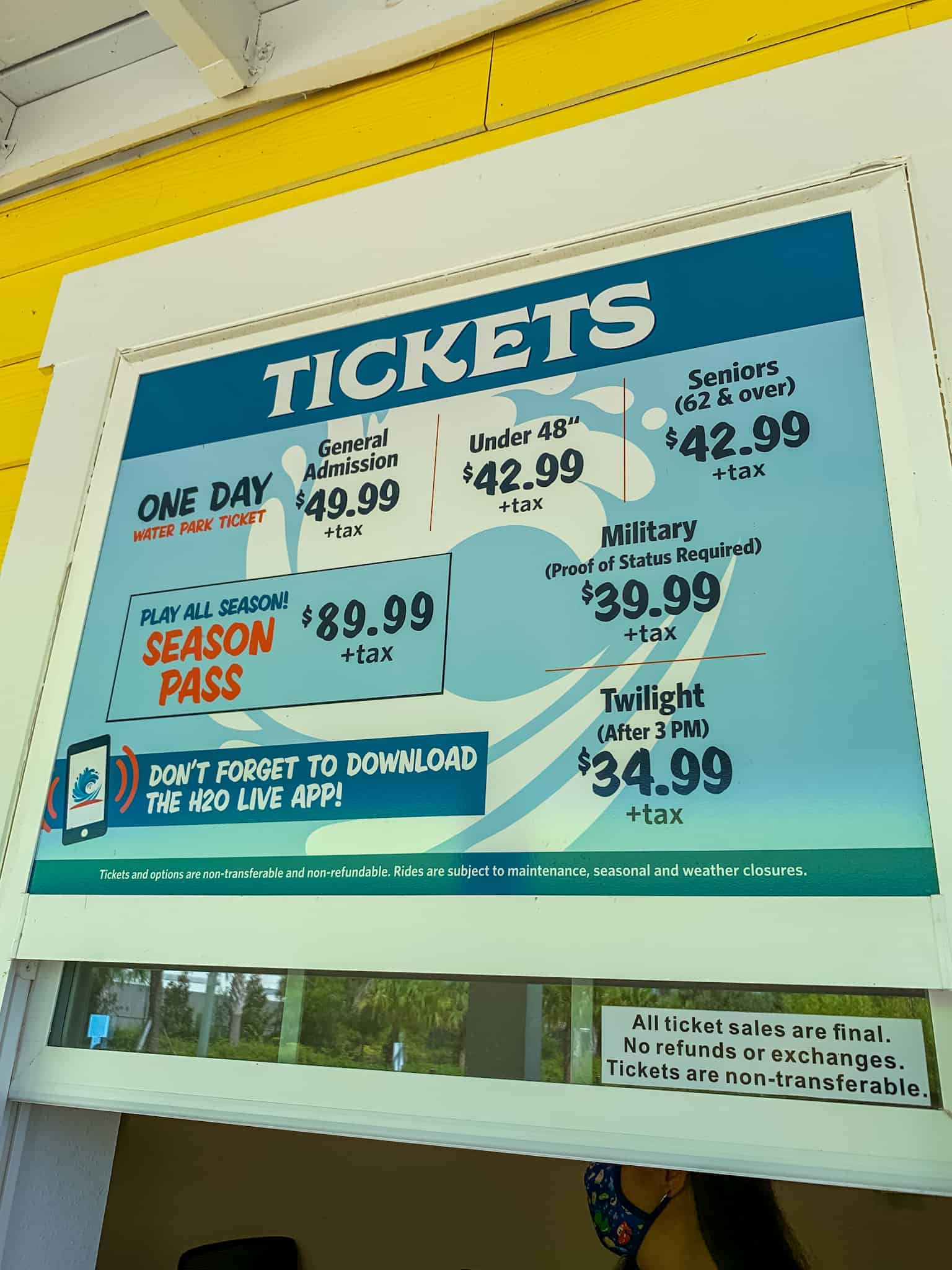 Ticket Prices at Island H2O Water Park in Orlando