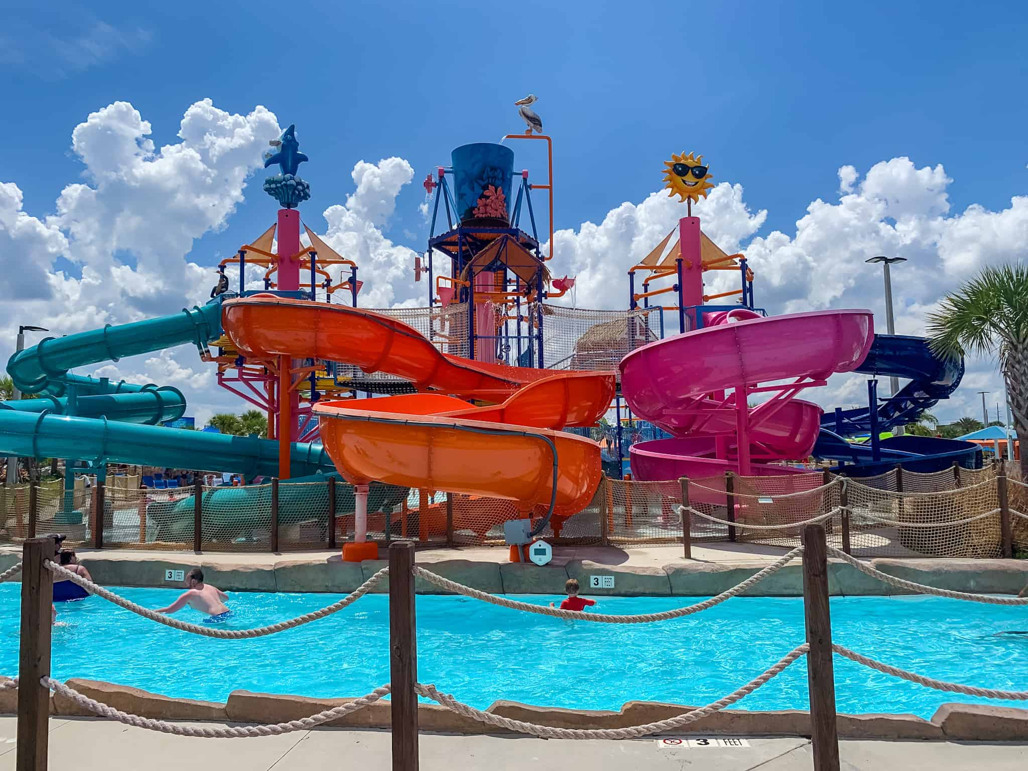 Kids water slides at Island H2O Live