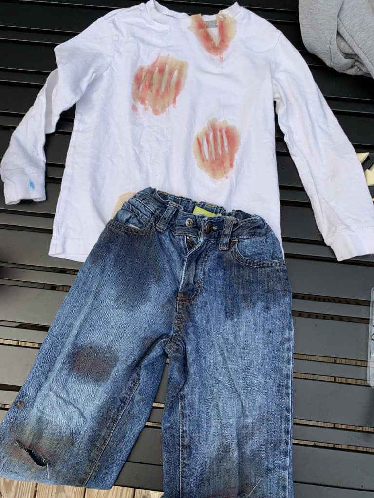 finished childs zombie costume