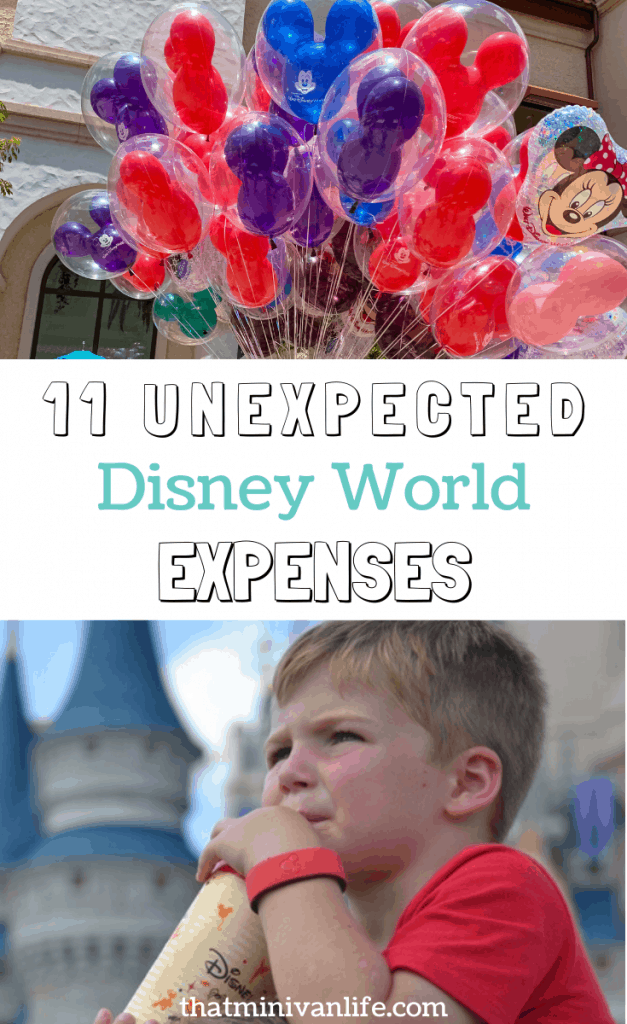 unexpected Disney World expenses pin