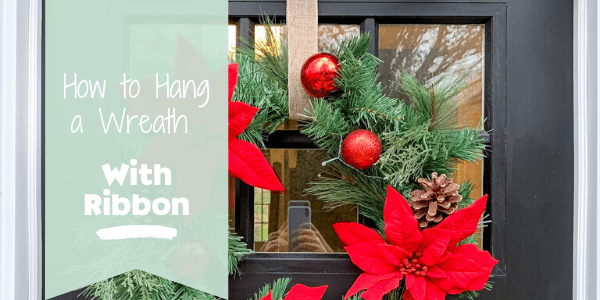 How to hang a wreath