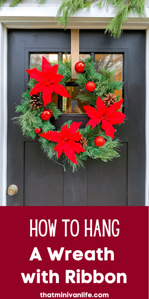 Hang a Wreath with Ribbon Pin