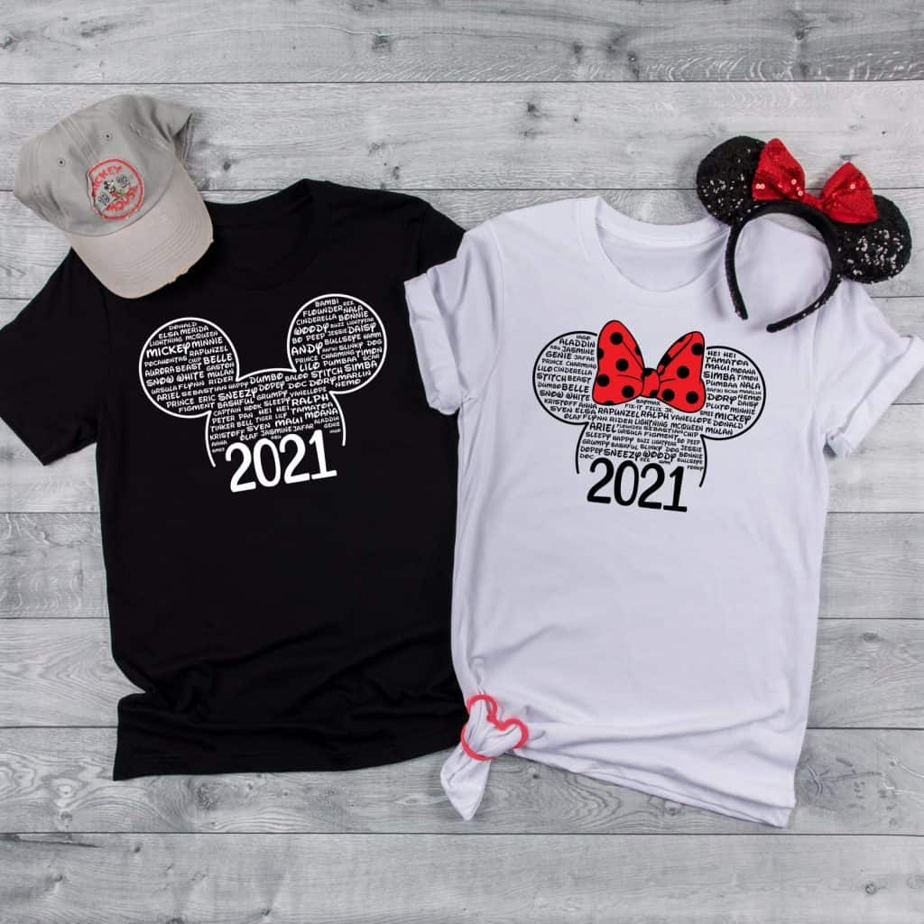 Disney Family Shirts for 2021
