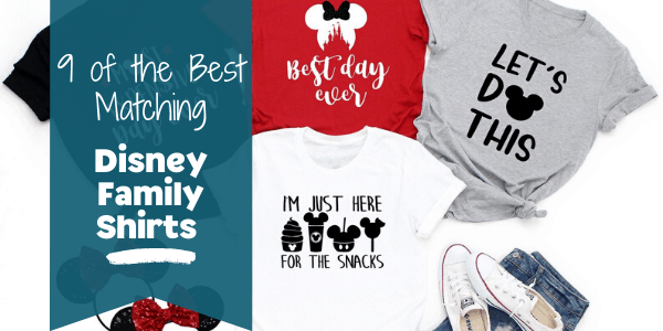 the Best Matching Disney Family shirts