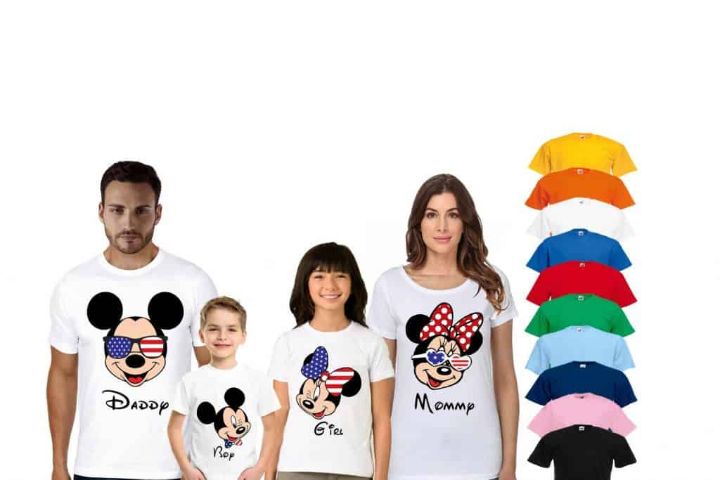 Patriotic Mickey and Minnie Shirts for the family