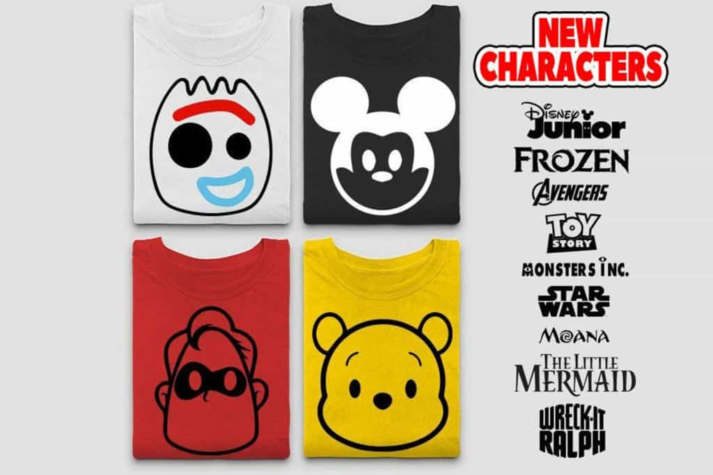 Disney Character Tee Shirts for Matching Disney Family Shirts