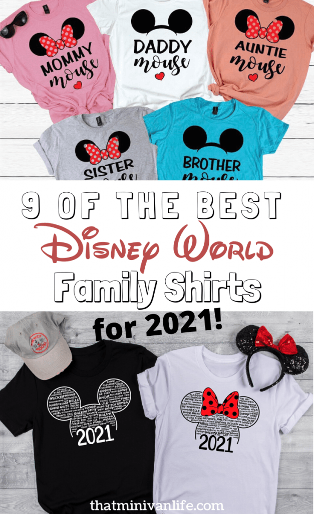 Disney World shirts from Etsy