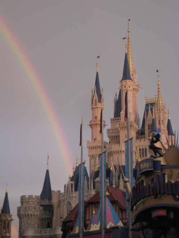 rainbow after a rainy day in Magic Kingdom