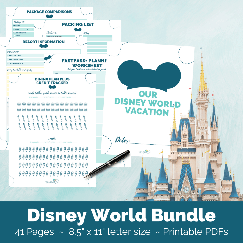 Disney World Planning Printables Bundle