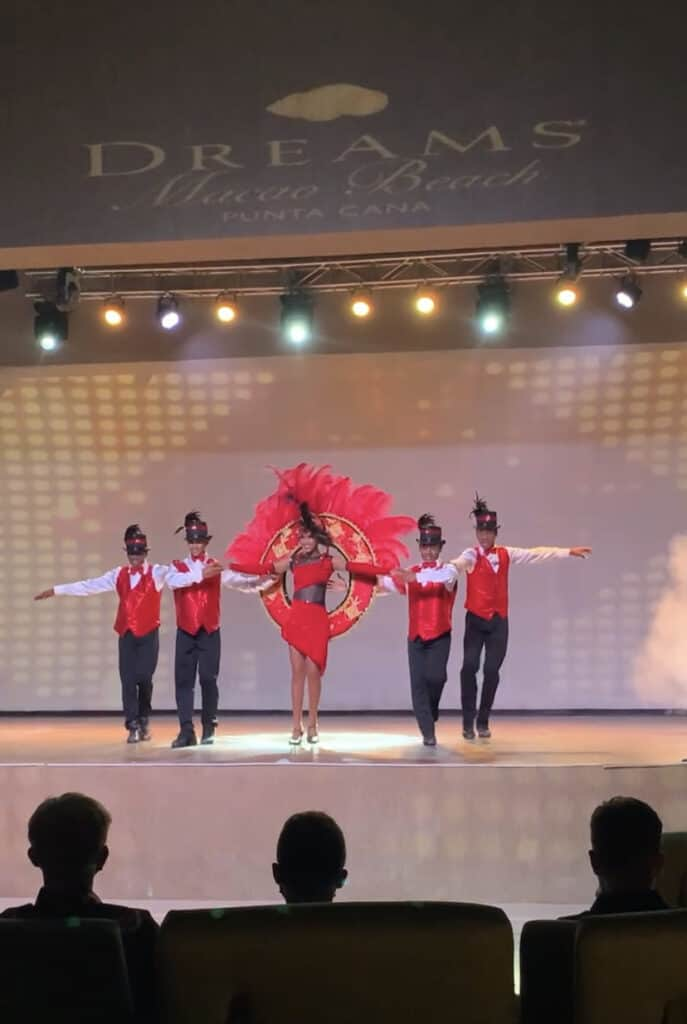 Dancers on stage Dreams Macao nightly entertainment