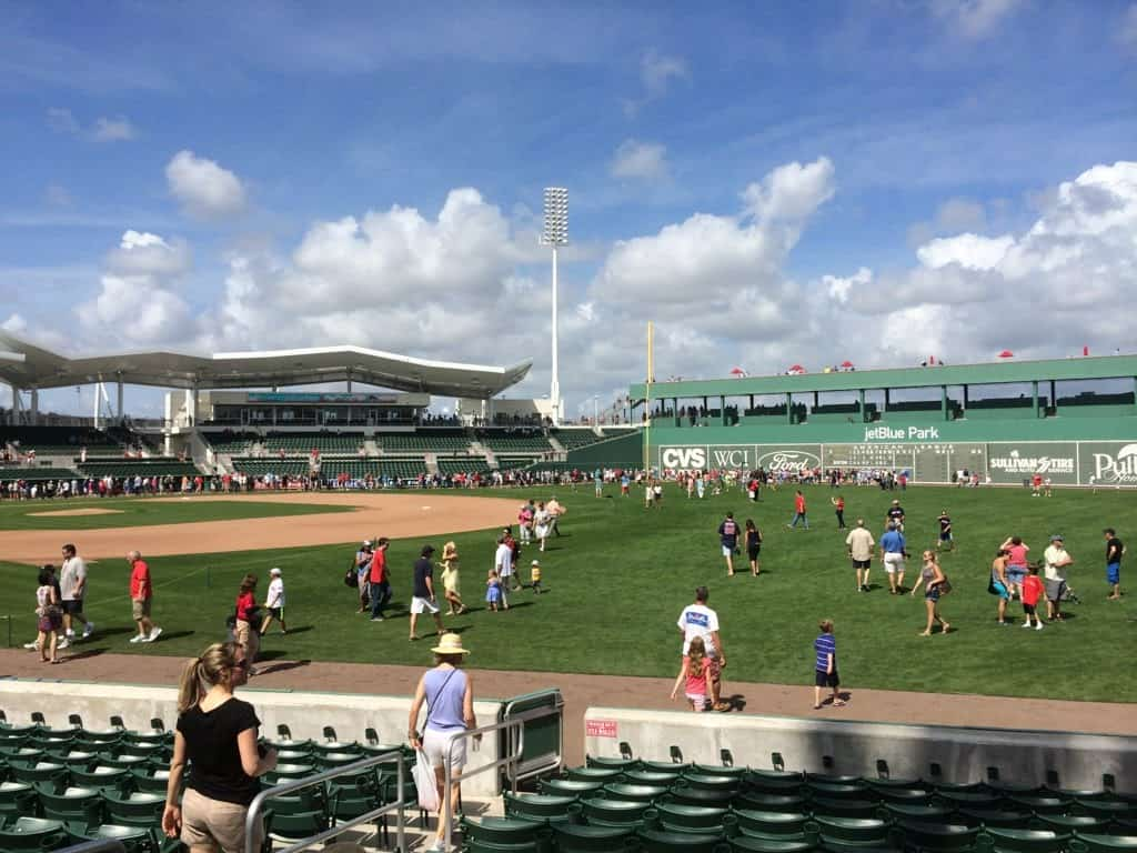 Red Sox Spring training game at Jet Blue Stadium in Fort Myers, FL
