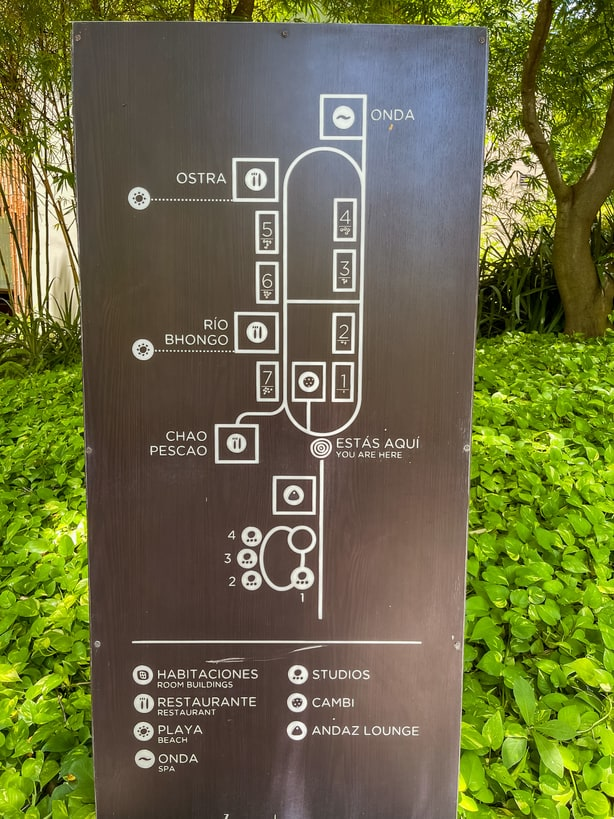 Map of the Andaz Costa Rica property
