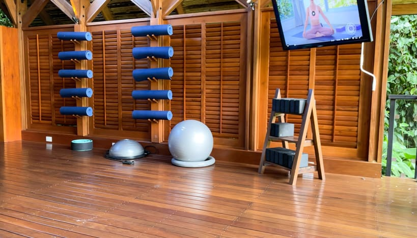 Exercise equipment at Amor Arenal
