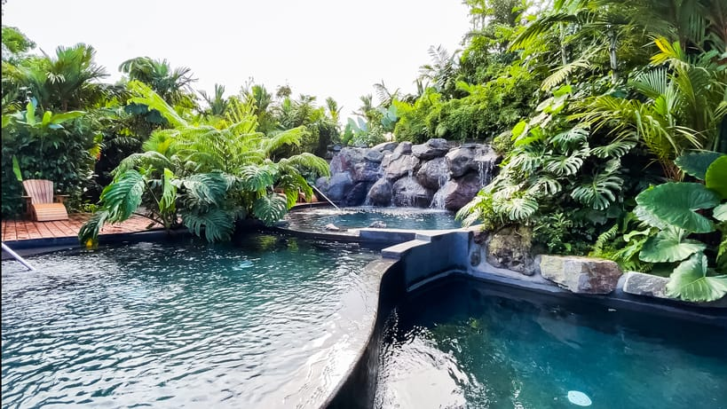 pool at one of the Best hotels near Arenal Volcano